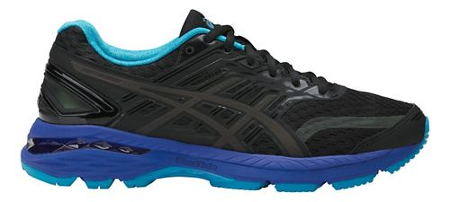 Womens ASICS GT-2000 5 Lite-Show Running Shoe - Black/Blue 7.5