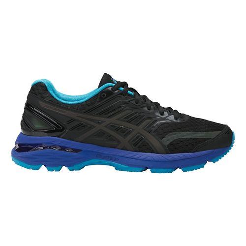 Womens ASICS GT-2000 5 Lite-Show Running Shoe - Black/Blue 10.5