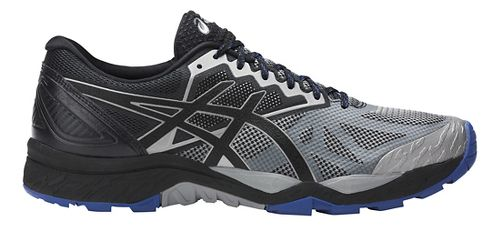 Mens ASICS GEL-FujiTrabuco 6 Trail Running Shoe - Grey/Black 11.5