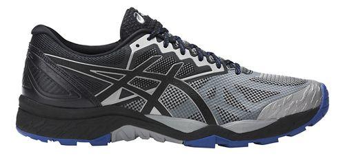 Mens ASICS GEL-FujiTrabuco 6 Trail Running Shoe - Grey/Black 15