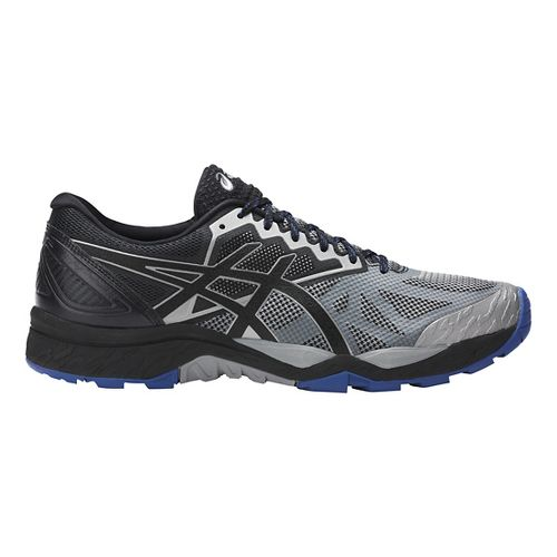 Mens ASICS GEL-FujiTrabuco 6 Trail Running Shoe - Grey/Black 10