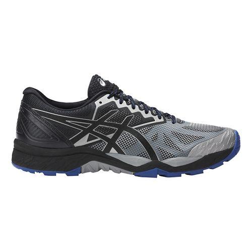 Mens ASICS GEL-FujiTrabuco 6 Trail Running Shoe - Grey/Black 7