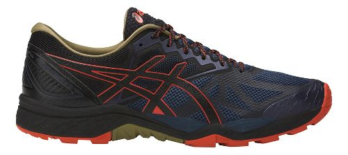 Mens ASICS GEL-FujiTrabuco 6 Trail Running Shoe - Blue/Orange 10.5