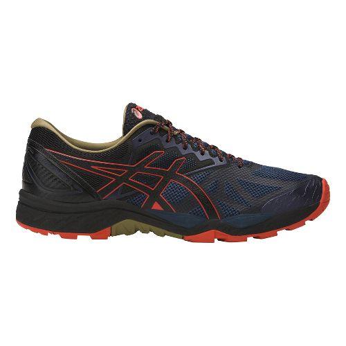 Mens ASICS GEL-FujiTrabuco 6 Trail Running Shoe - Blue/Orange 11