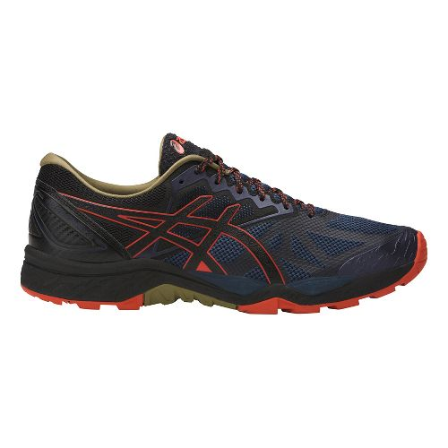 Mens ASICS GEL-FujiTrabuco 6 Trail Running Shoe - Blue/Orange 6.5