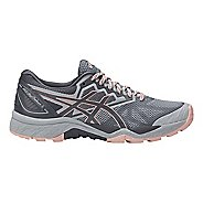 Womens ASICS GEL-FujiTrabuco 6 Trail Running Shoe - Grey/Light Pink 5.5