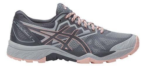 Womens ASICS GEL-FujiTrabuco 6 Trail Running Shoe - Grey/Light Pink 8