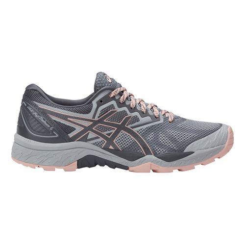 Womens ASICS GEL-FujiTrabuco 6 Trail Running Shoe - Grey/Light Pink 5.5