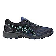 Womens ASICS GEL-FujiTrabuco 6 Trail Running Shoe - Blue/Green 5