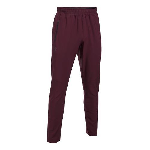 Mens Under Armour WG Woven Pants - Raisin Red XL-T