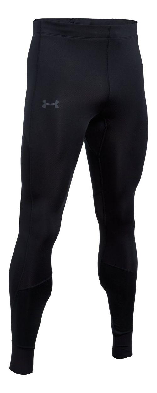 Mens Under Armour ColdGear Reactor Run Tights & Leggings Pants - Black L