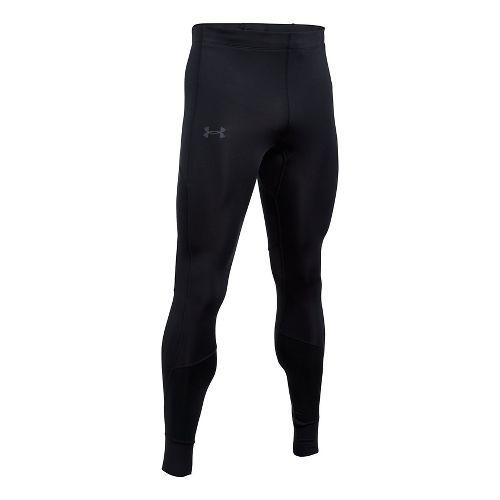 Mens Under Armour ColdGear Reactor Run Tights & Leggings Pants - Black S