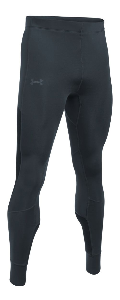 Mens Under Armour ColdGear Reactor Run Tights & Leggings Pants - Stealth Grey L