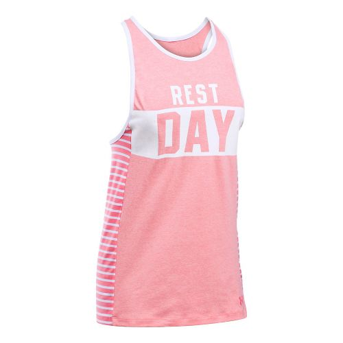 Womens Under Armour Rest Day Favorite Sleeveless & Tank Tops Technical Tops - Perfection/White ...