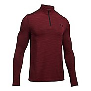 Mens Under Armour Threadborne Seamless 1/4 Zip Half-Zips & Hoodies Technical Tops - Red/Black M