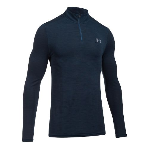 Mens Under Armour Threadborne Seamless 1/4 Zip Half-Zips & Hoodies Technical Tops - True ...
