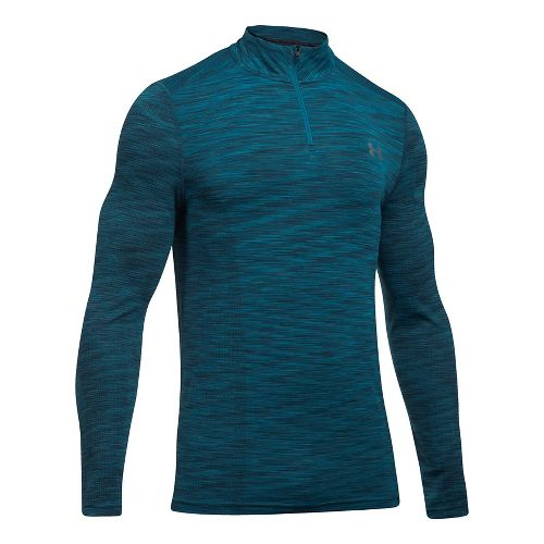 Mens Under Armour Threadborne Seamless 1/4 Zip Half-Zips & Hoodies Technical Tops - Bayou ...