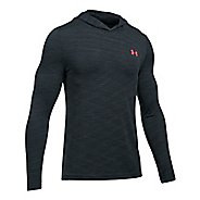 Mens Under Armour Threadborne Seamless Hoody Half-Zips & Hoodies Technical Tops - Anthracite/Red M