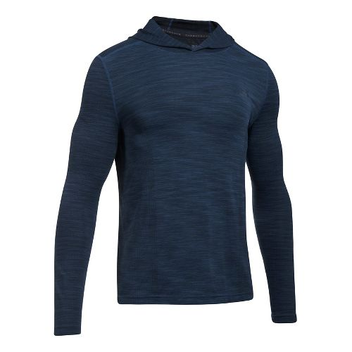 Mens Under Armour Threadborne Seamless Hoody Half-Zips & Hoodies Technical Tops - True ...