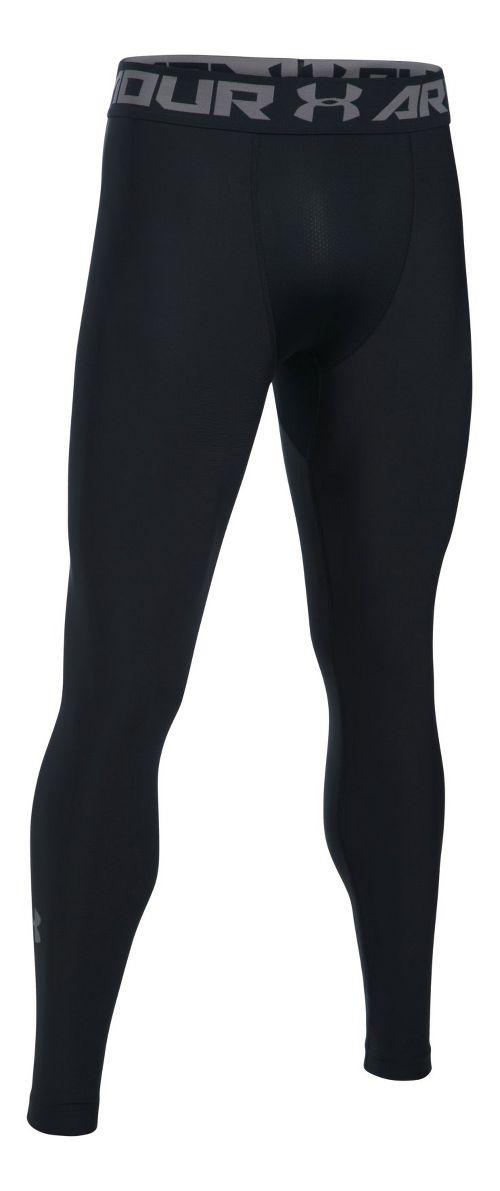 Mens Under Armour HeatGear 2.0 Tights & Leggings Pants - Black/Graphite XXL