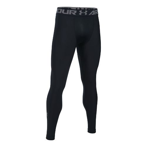 Mens Under Armour HeatGear 2.0 Tights & Leggings Pants - Black/Graphite XXL-T