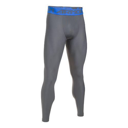 Mens Under Armour HeatGear 2.0 Tights & Leggings Pants - Graphite/Blue 4XL-T