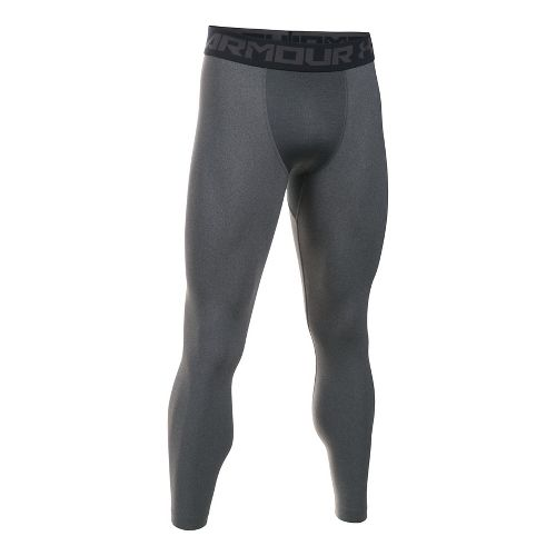 Mens Under Armour HeatGear 2.0 Tights & Leggings Pants - Carbon Heather XL