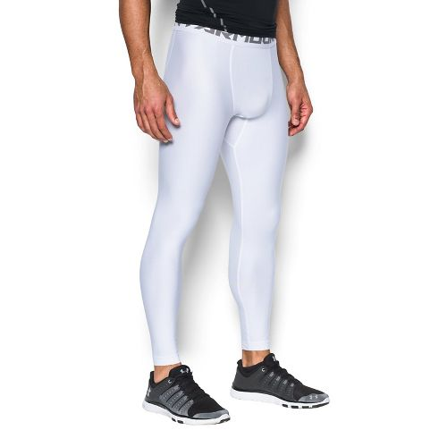 Mens Under Armour HeatGear 2.0 Tights & Leggings Pants - White XL