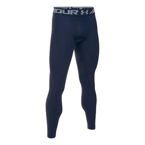 Mens Under Armour HeatGear 2.0 Tights & Leggings Pants - Midnight Navy M