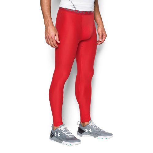 Mens Under Armour HeatGear 2.0 Tights & Leggings Pants - Red XXL