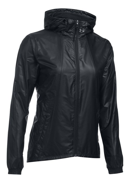 Womens Under Armour Run True Cold Weather Jackets - Black L