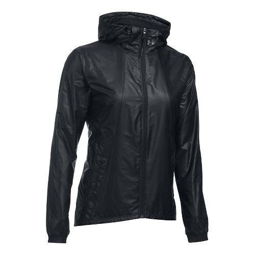 Womens Under Armour Run True Cold Weather Jackets - Black XS