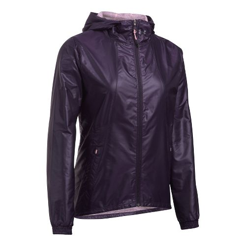 Womens Under Armour Run True Cold Weather Jackets - Purple/Orchid L