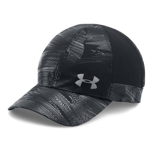 Womens Under Armour Fly By AV Cap Headwear - Black/Black
