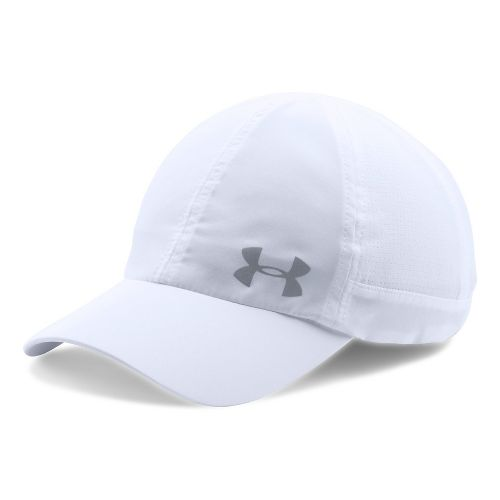 Womens Under Armour Fly By AV Cap Headwear - White