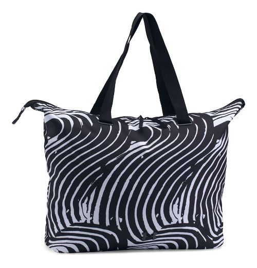 Womens Under Armour Printed On The Run Tote Bags - Black/Black