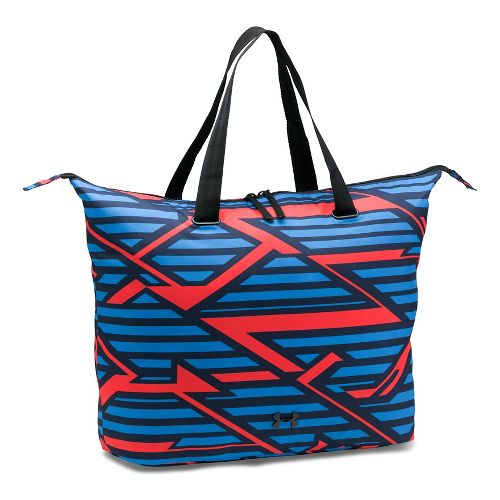Womens Under Armour Printed On The Run Tote Bags - Navy/Pomegranate