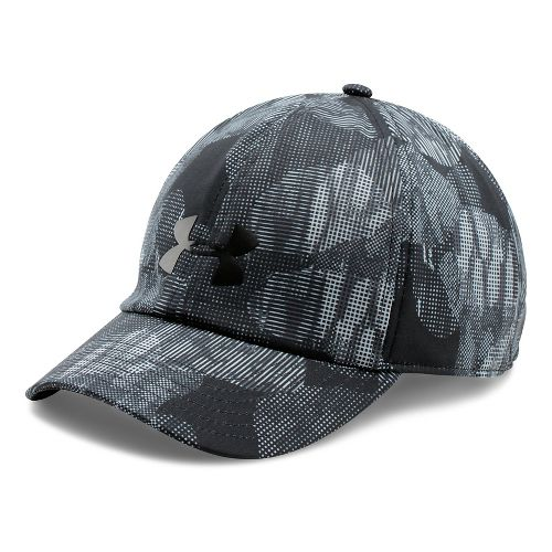 Womens Under Armour Printed Renegade Cap Headwear - Black/Overcast Grey