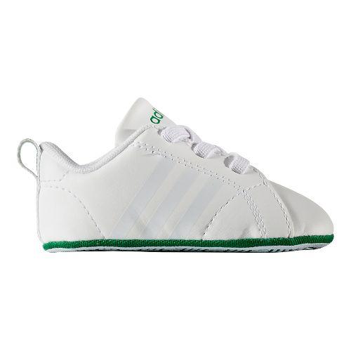 adidas Advantage VS Crib Casual Shoe - White/Green 2C