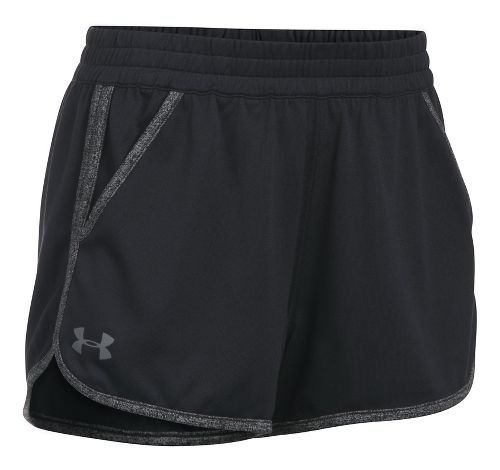 Womens Under Armour Twist Tech 2.0 Unlined Shorts - Black/Black L
