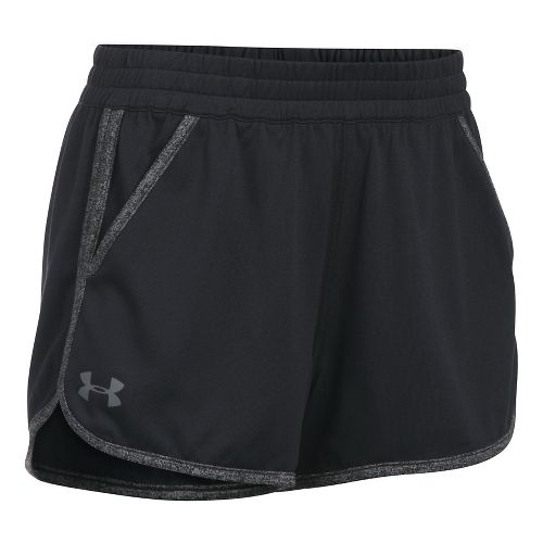 Womens Under Armour Twist Tech 2.0 Unlined Shorts - Black/Black M