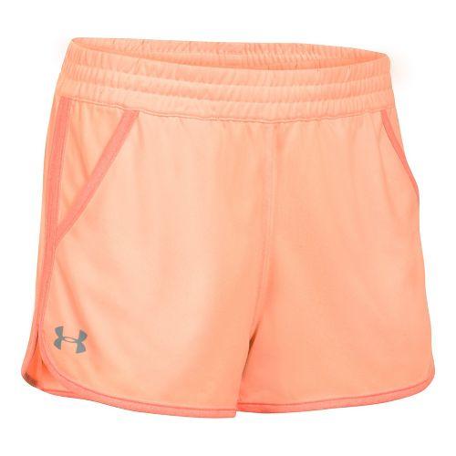Womens Under Armour Twist Tech 2.0 Unlined Shorts - Peach/Orange S