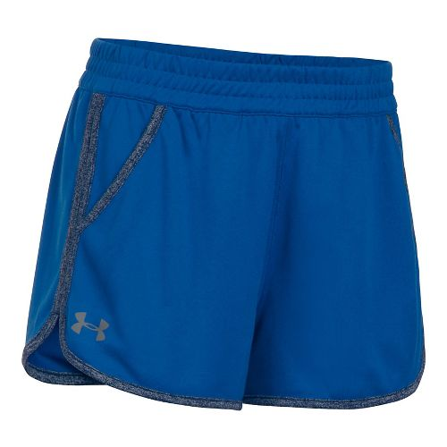 Womens Under Armour Twist Tech 2.0 Unlined Shorts - Royal/Navy S