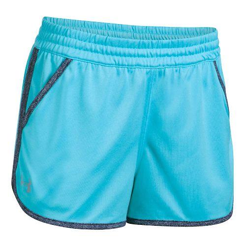 Womens Under Armour Twist Tech 2.0 Unlined Shorts - Blues/Navy M