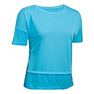 Womens Under Armour Tech Slub Layered Short Sleeve Technical Tops