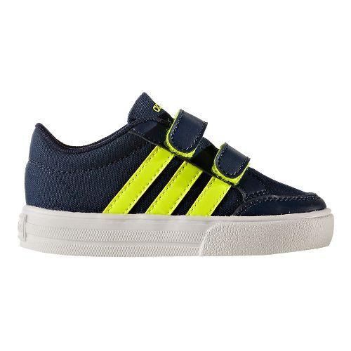 adidas Set VS Casual Shoe - Navy/Solar Yellow 5C