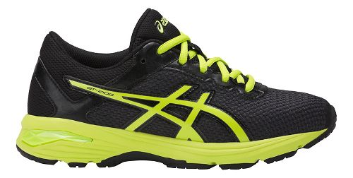 Kids ASICS GT-1000 6 Running Shoe - Black/Green 1Y