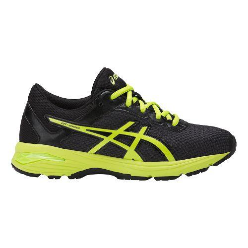 Kids ASICS GT-1000 6 Running Shoe - Black/Green 3Y