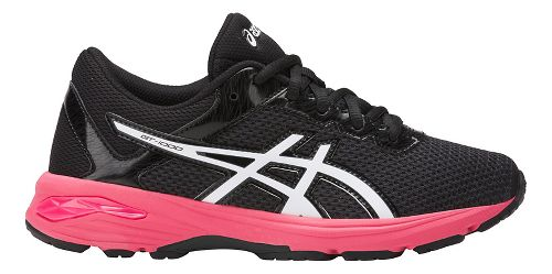 Kids ASICS GT-1000 6 Running Shoe - Dark Grey/Pink 2.5Y