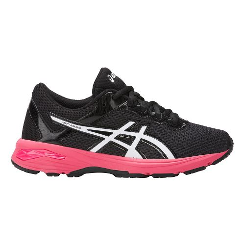 Kids ASICS GT-1000 6 Running Shoe - Dark Grey/Pink 1.5Y